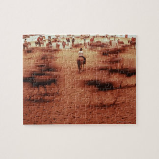 Rodeo arena,blurred motion,Texas, USA Jigsaw Puzzle