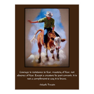 RODEO ART COURAGE POSTER