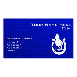 Rodeo azul tarjetas de visita