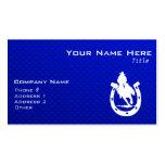 Rodeo azul tarjetas de negocios