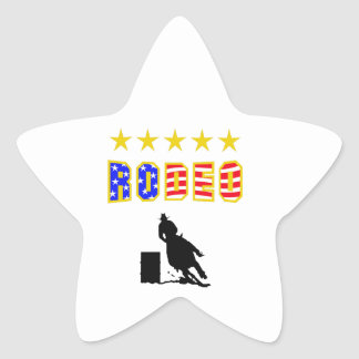 RODEO BARREL RACER STAR STICKERS