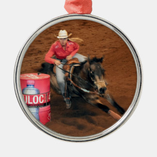 RODEO BARREL RACING NEBO RURAL AUSTRALIA METAL ORNAMENT
