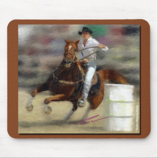 Rodeo - Barrel Racing - Second Barrel - Painting Mouse Pad