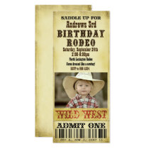 Rodeo Birthday Invitation