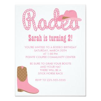 Rodeo Birthday 4.25x5.5 Paper Invitation Card