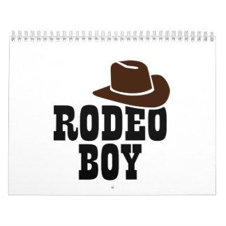 Rodeo boy calendar