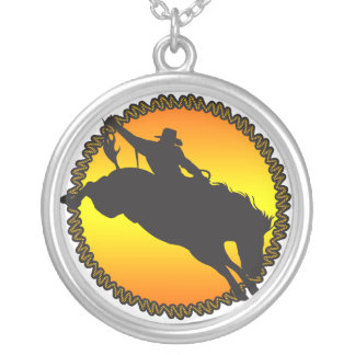 Rodeo Bronc Horse Necklace