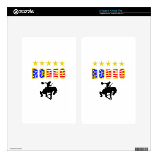 RODEO BRONC RIDER KINDLE FIRE SKINS