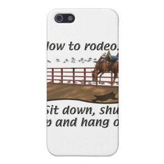 Rodeo - Broncs - cómo al rodeo iPhone 5 Protectores