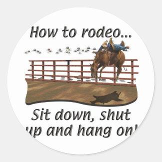 Rodeo - Broncs - cómo al rodeo Pegatina Redonda
