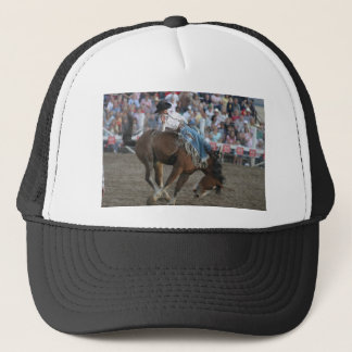 Rodeo Bucking Bronco Trucker Hat