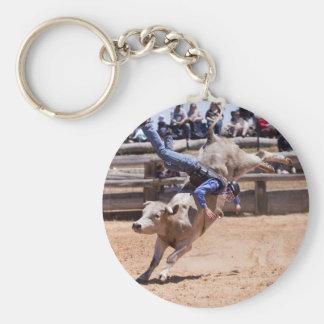 Rodeo Bucking Bull Llavero Redondo Tipo Pin