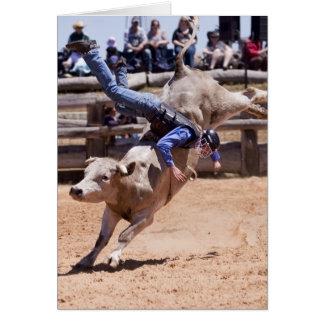 Rodeo Bucking Bull Tarjeta De Felicitación