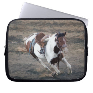Rodeo Bucking Pinto Bronco Computer Sleeve