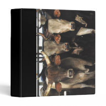 Rodeo Bull Cows Cowboy Western Notebook Binder