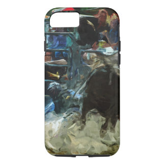 Rodeo Bull Ride Ending Abstract Impressionism iPhone 8/7 Case