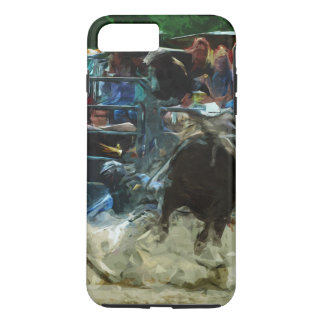 Rodeo Bull Ride Ending Abstract Impressionism iPhone 8 Plus/7 Plus Case