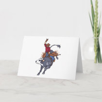 Rodeo Bull Rider Card