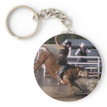 Rodeo Bull Rider Keychain