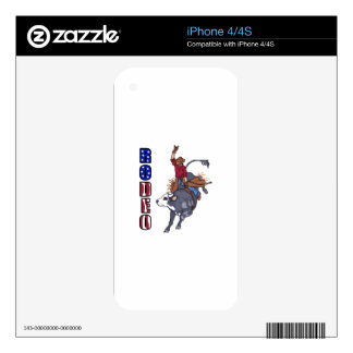 RODEO BULL RIDER iPhone 4S DECAL