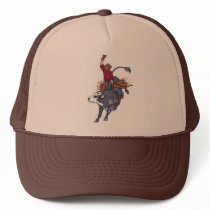 Rodeo Bull Rider Trucker Hat