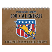 Rodeo Bull Riding Bucking Bronco 2011 calendar