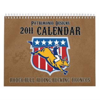 Rodeo Bull Riding Bucking Bronco 2011 calendar
