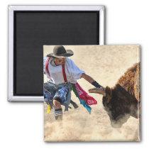 Rodeo Bullfighter Magnet