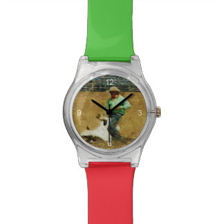 Rodeo Calf Roping Abstract Impressionism Wrist Watch