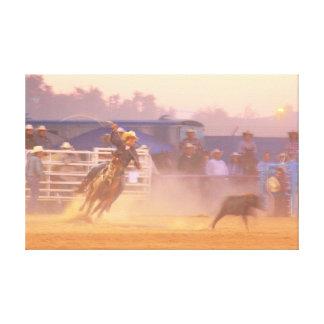 Rodeo Calf Roping Canvas Print