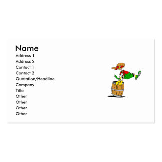 Rodeo Clown Double-Sided Standard Business Cards (Pack Of 100)