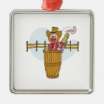Rodeo Clown Christmas Ornaments