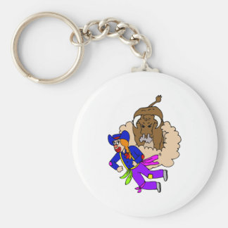 Rodeo Clown Girl Keychain