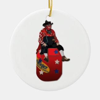 Rodeo Clowns Ceramic Ornament