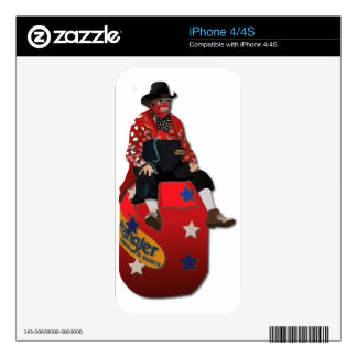 Rodeo Clowns Decal For iPhone 4