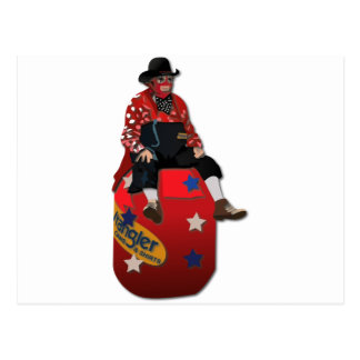Rodeo Clowns Postcard