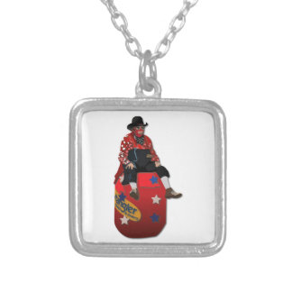 Rodeo Clowns Silver Plated Necklace