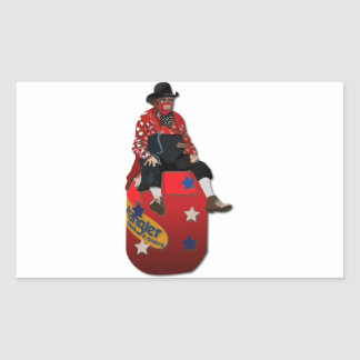 Rodeo Clowns Rectangle Sticker