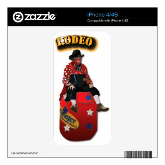 Rodeo Clowns with Text Decal For iPhone 4
