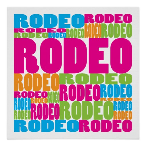Rodeo colorido poster