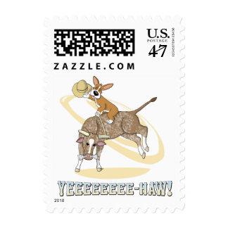 Rodeo Corgi Stamps