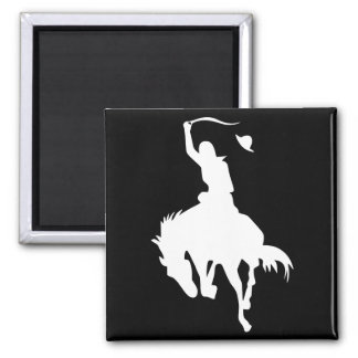 Rodeo Cowboy 2 Inch Square Magnet