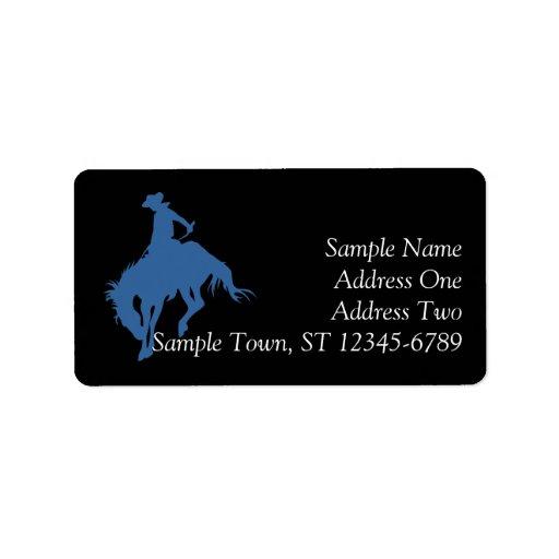 Rodeo Cowboy Address Label Personalized Address Label