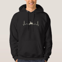Rodeo Cowboy and Horse Heartbeat Gift Hoodie