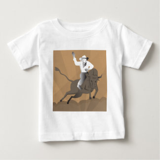 rodeo cowboy bull riding retro baby T-Shirt