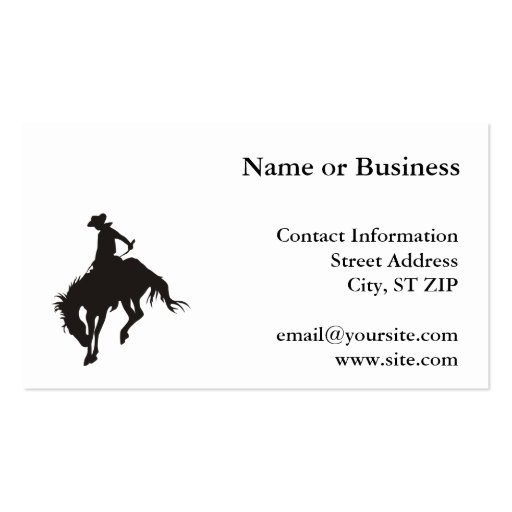 Rodeo Cowboy Business Card Templates