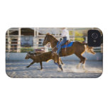 Rodeo cowboy calf roping iPhone 4 case