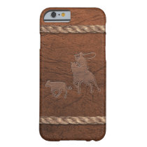 Rodeo Cowboy - Calf Roping, Leather & Rope Barely There iPhone 6 Case