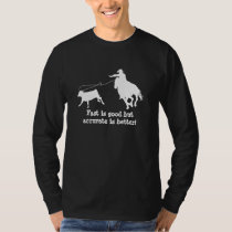 Rodeo Cowboy Calf Roping Silhouette T-Shirt