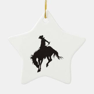 Rodeo Cowboy Ceramic Ornament